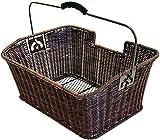 Büchel Fahrrad-Gepäckträgerkorb aus hochwertigem Polyrattan, braun, 40504180