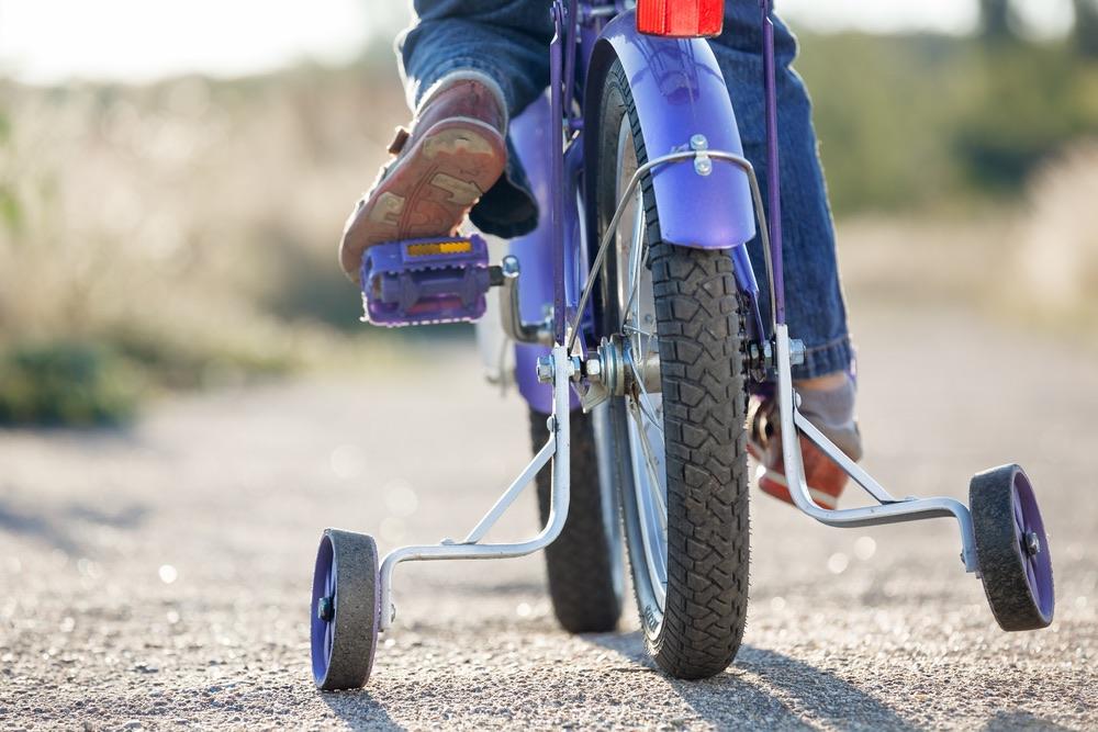 Laufrad statt Stützräder